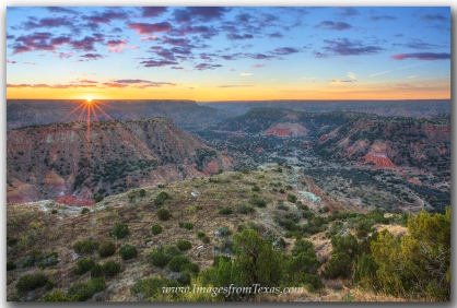 Sunrise at Palo Duro Canyon was a magnificent sight to enjoy.