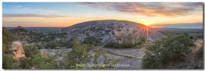 Sunset over Enchanted Rock in the Texas HIll Country